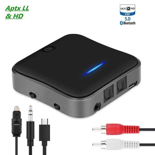 Récepteur Émetteur Audio Bluetooth 5.0 Aptx 3,5 Mm / Spdif / Toslink Optique